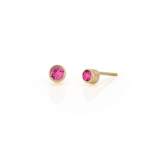 14kt Pink Tourmaline Gemstone Earrings
