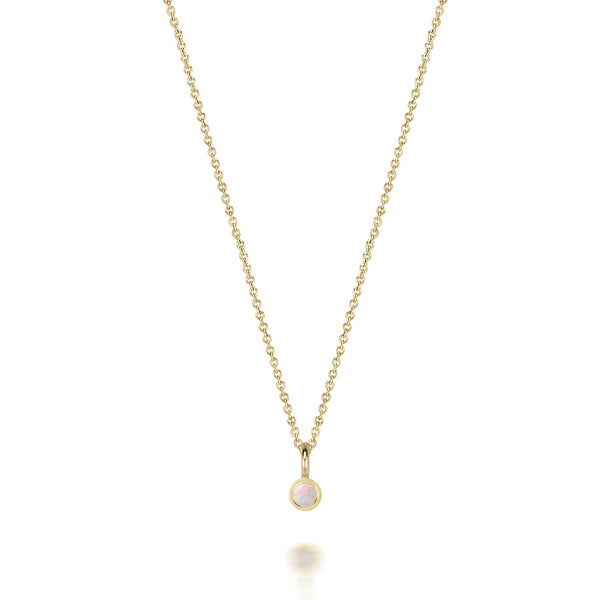 14kt Moonstone Gemstone Necklace