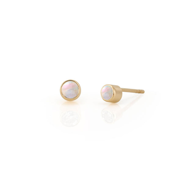 14kt Moonstone Birthstone Earrings
