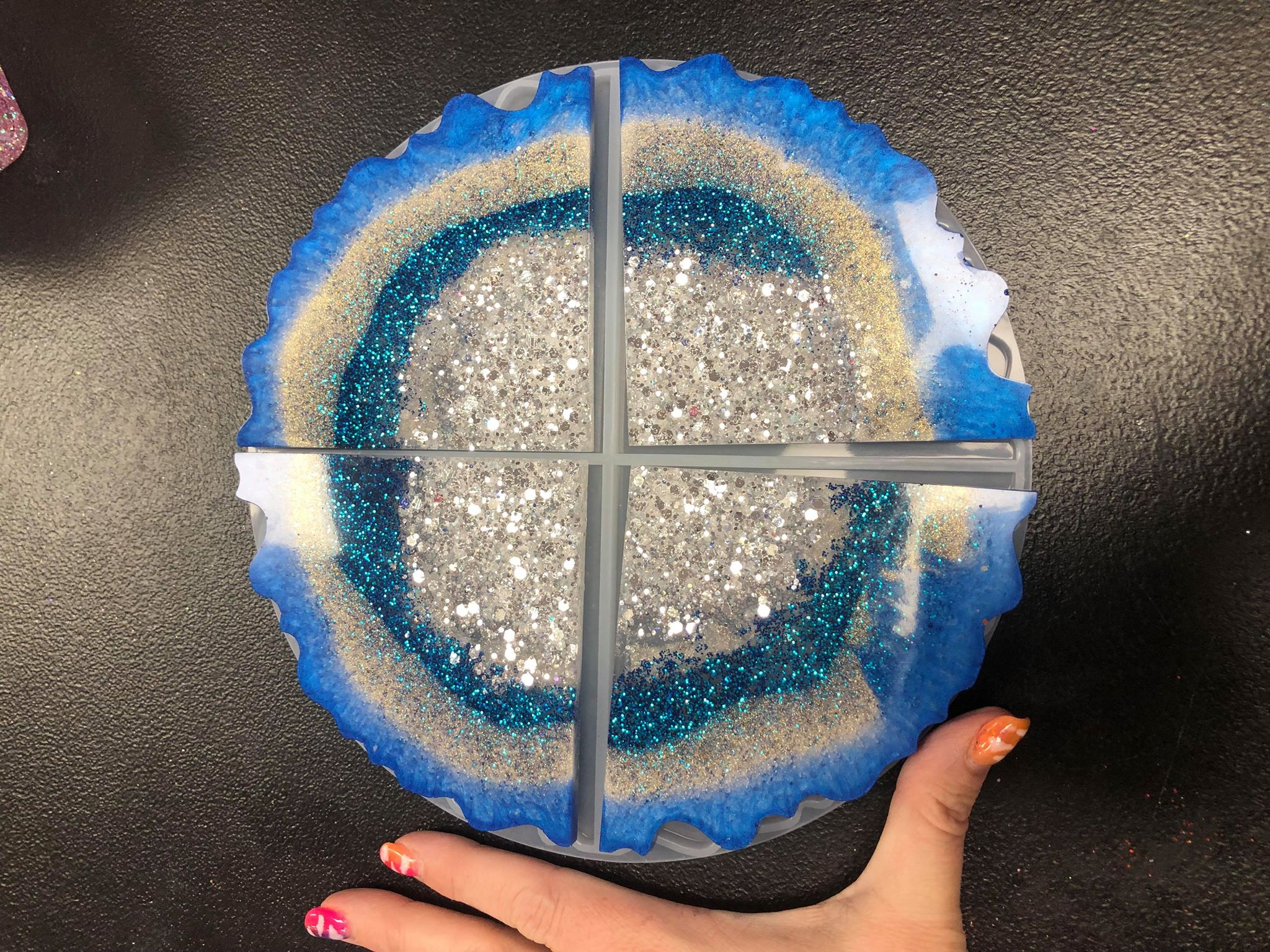 Geode Slice Coaster Mold