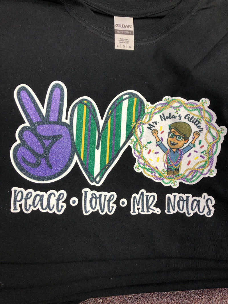 MNG Peace Love Mr.Nola's T-Shirt