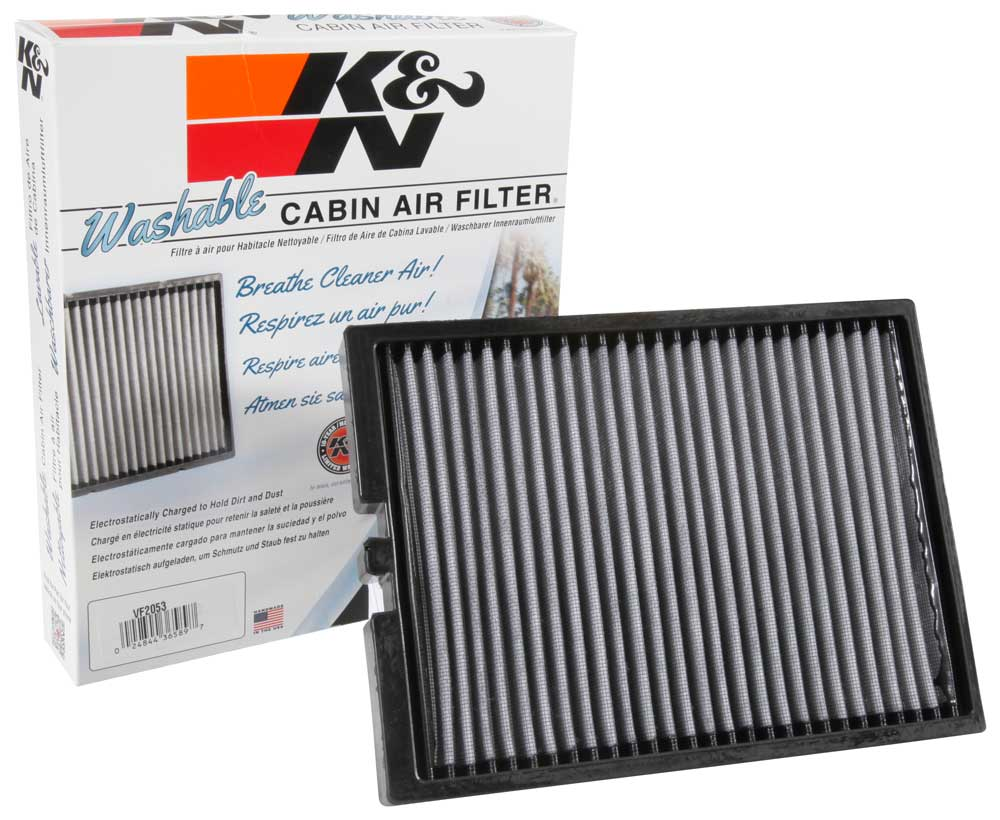 K&N Drop-In Replacement Cabin Air Filter ('15-'18 Mustang GT, EcoBoost, V6) (VF2053) K&N