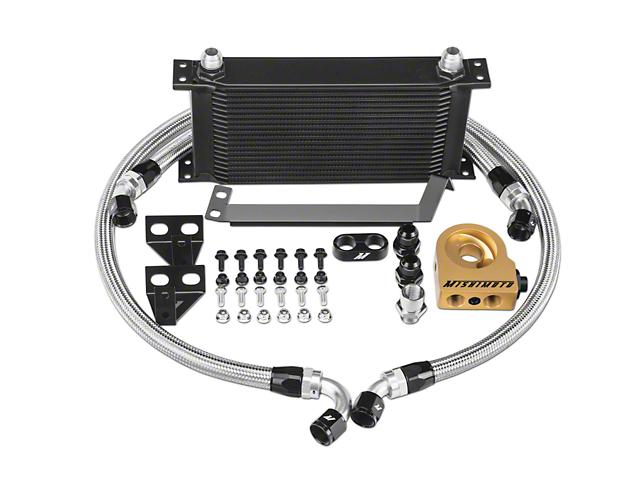 Mishimoto Performance Thermostatic Oil Cooler - Black ('15-'18 Mustang EcoBoost) Mishimoto
