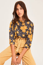 Load image into Gallery viewer, Ba1E21bali Yellow Floral Blouse