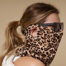 Load image into Gallery viewer, Lele Sadoughi Gaiter Face Mask - Leopard