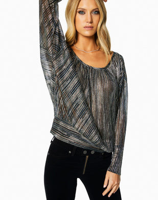 Metallic Multi Stripe Top