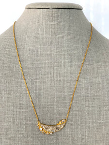 Large Crescent Diamond Shard Necklace