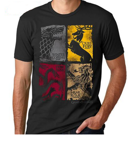 "T-shirt Game Of Thrones ""STARK TARGARYEN LANNISTER"""