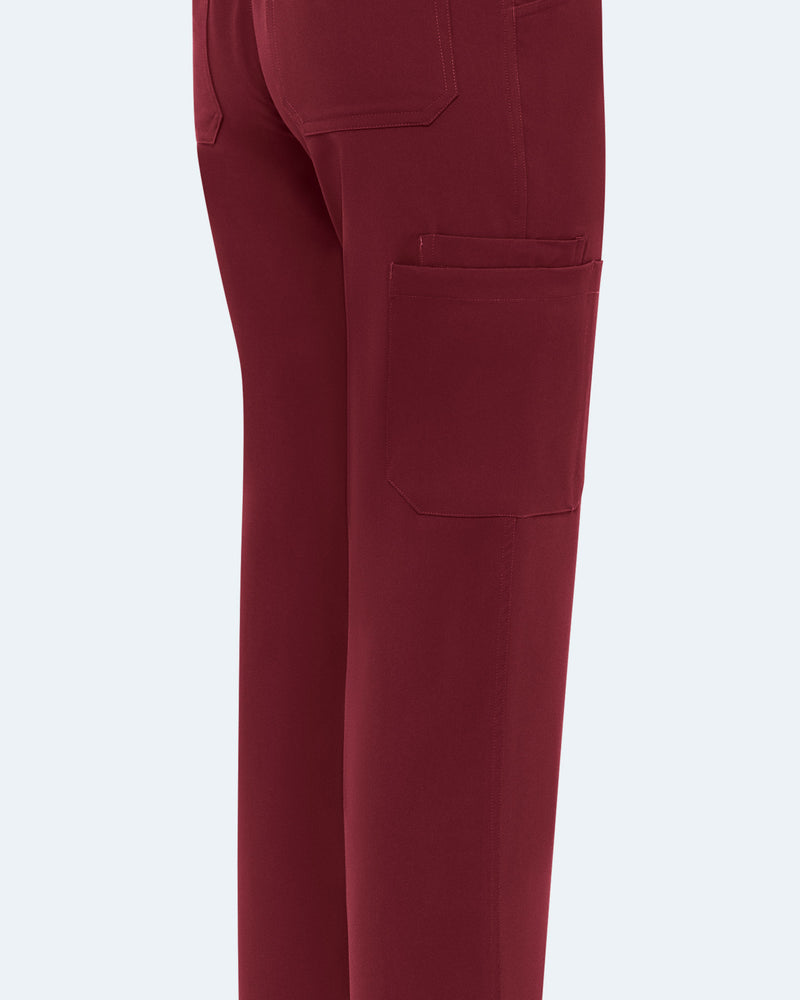 Straight Leg Scrub Pants Wine
