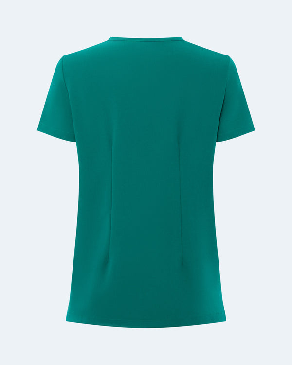 One Pocket Scrub Top Hunter Green