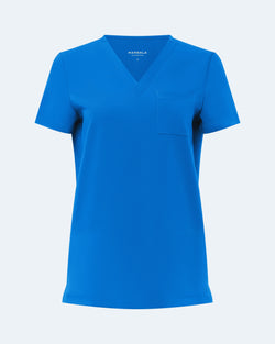 One Pocket Scrub Top Royal Blue