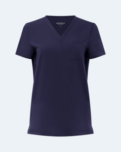 One Pocket Scrub Top Navy