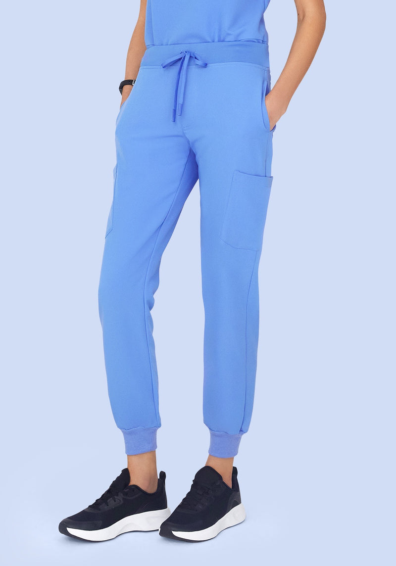 9 Pocket Joggers Ceil Blue