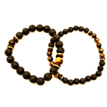 Load image into Gallery viewer, Lava Stone Twin Set - Tiger Eye