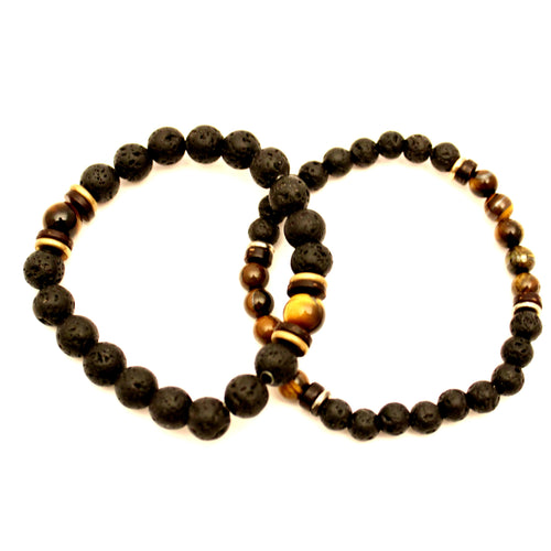 Lava Stone Twin Set - Tiger Eye