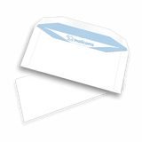 1000 White DL+ Non Windowed Gummed Envelopes (114mm x 235mm)
