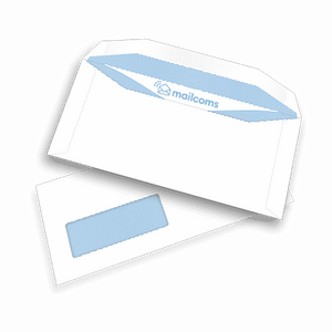 1000 White DL+ Windowed (45mm x 90mm) Gummed Envelopes (114mm x 235mm)