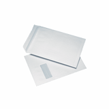 250 White C4 Windowed (40mm x 105mm) Self Seal Envelopes (324mm x 229mm)