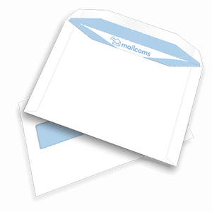 500 White C5+ High Windowed (45mm x 90mm) Gummed Envelopes (162mm x 235mm)
