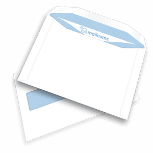 500 White C5+ Windowed (45mm x 90mm) Gummed Envelopes (162mm x 235mm)