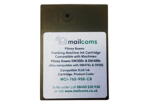 Pitney Bowes DM300c / DM400c / DM475c Compatible Blue Ink Cartridge