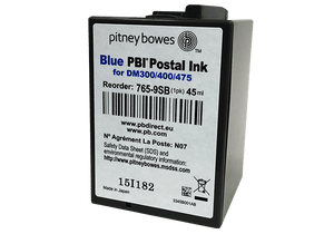 Pitney Bowes DM300c / DM400c / DM475c Original Blue Ink Cartridge