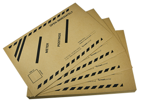 100 Late Meter Posting Franking Envelopes