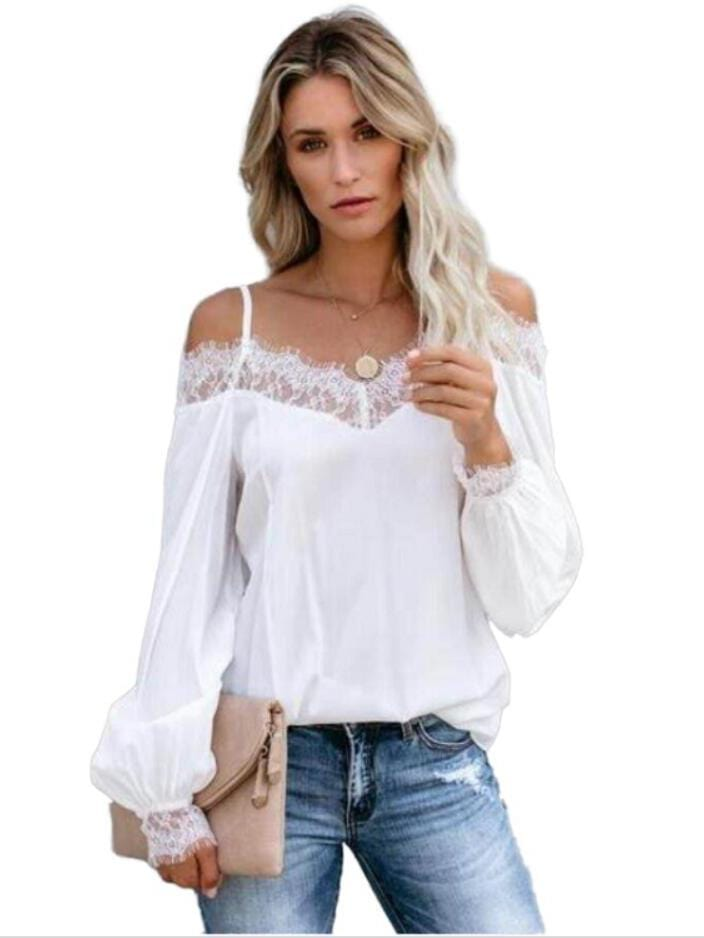 Women  Sexy Suspenders Lace Shirt