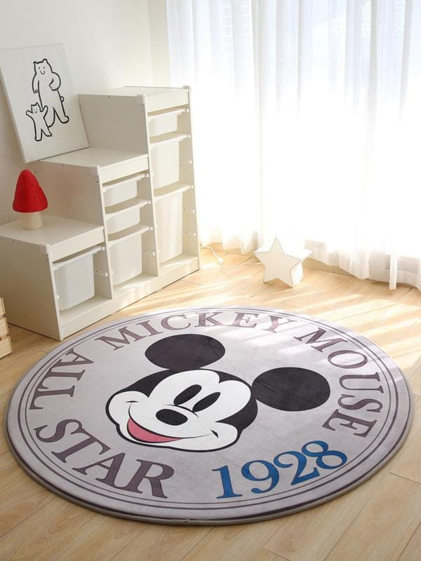 INS Slow Rebound Round Cartoon Home Decoration Velvet Mat