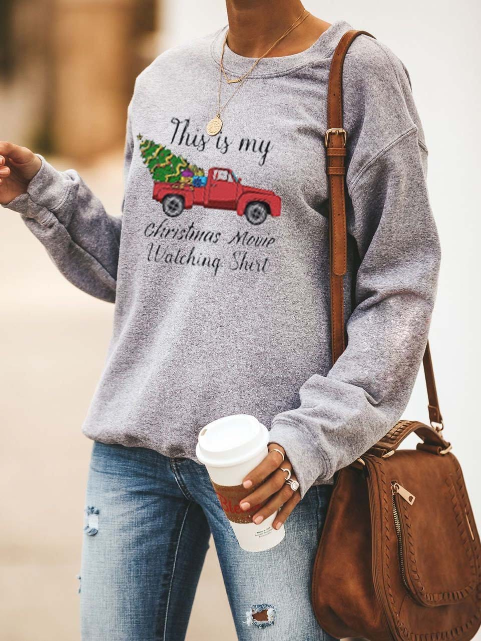 Women's  Christmas Movie Casual Sweatshirt