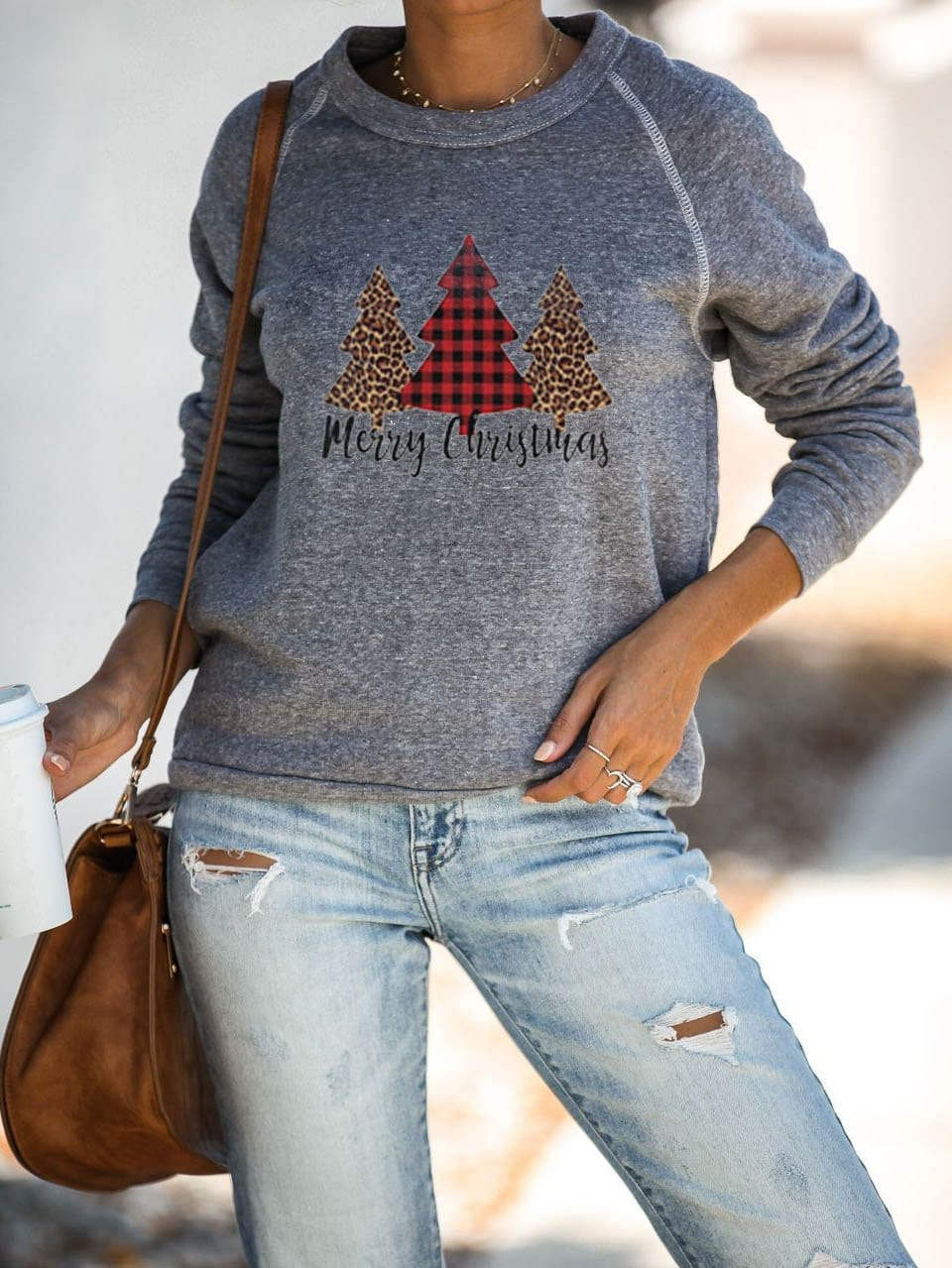 Women's Merry Christmas  Printed Sweatshirt