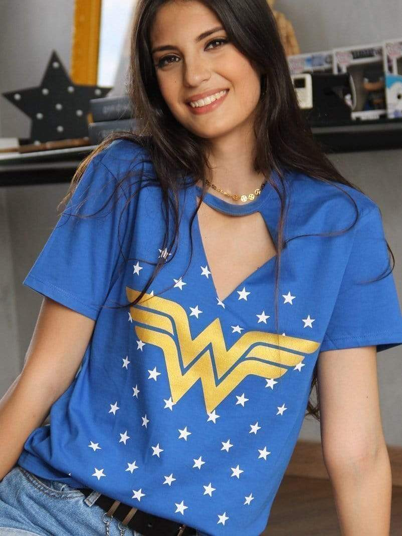 Wonder Woman blue T-shirt TOPS