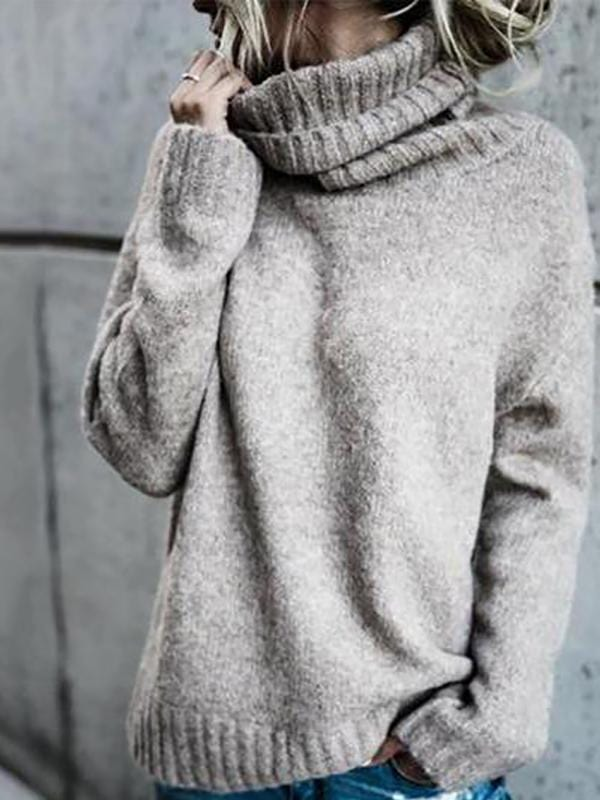 High Collar Long Sleeve Keep Warm Sweater