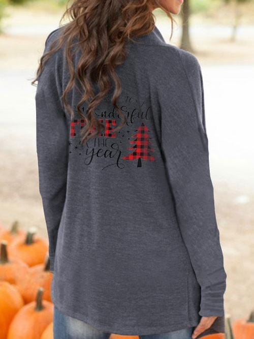 Women's Christmas Wonderful Time Casual Cardigan
