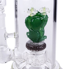 "Empire Glassworks ""Bioluminescent Cactus"" UV Reactive Water Pipe"
