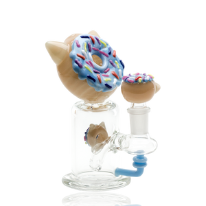 Empire Glassworks Kitty Donut Mini Rig Water Pipe