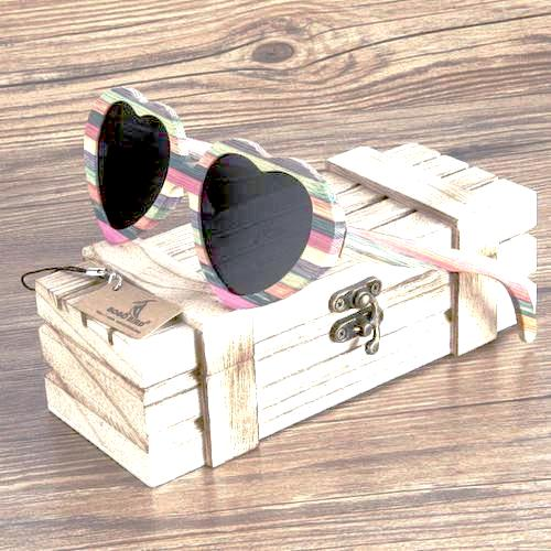 'Heart Eyes' - Bamboo Sunglasses