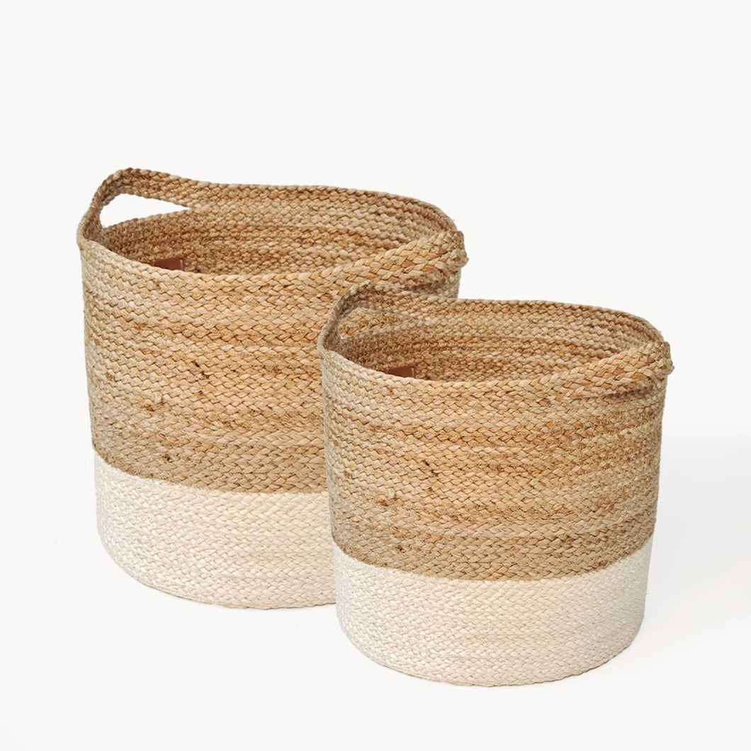 Jute Colorblock Basket