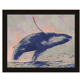 Liv Grn Blue Whale on Peach Oil by Amrita Sen