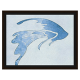 Liv Grn Angel Fish Blue on Light Blue Watercolor