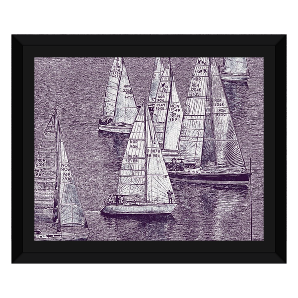 Liv Grn Sailboats Showing Off Pencil Sketch