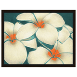 Three Oil Flowers White with Orange In The Middle by Amrita Sen