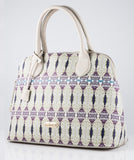 BollyDoll Wire Henna Cream Faux Leather Fashion Bag