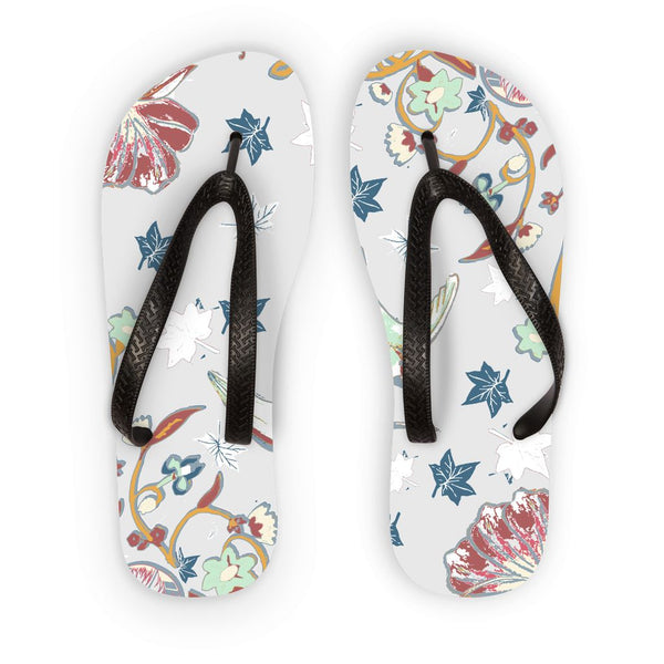 Amrita Sen Birds and Amla Vines Flip Flops