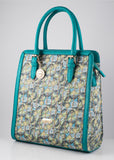 BollyDoll Green Leaves Faux Leather Fashion Bag