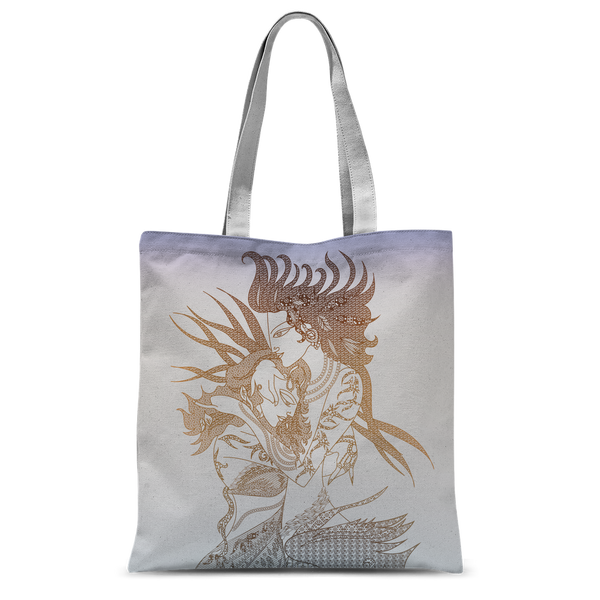 Radha Krishna Love Pastel Classic Sublimation Tote Bag
