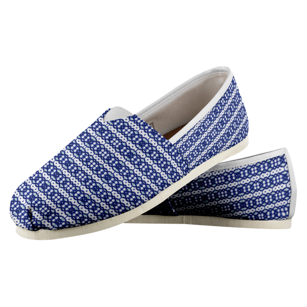 Blue Pattern Match for Coral Fish Casual Shoe