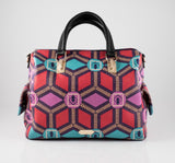 BollyDoll Triangle Geo Leather Fashion Bag