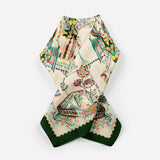 Catherine The Great Cream Empress Collection Silk Scarf