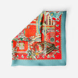 Catherine The Great Flaming Red Empress Collection Silk Scarf